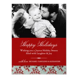 Classy Christmas Invitations Photo Card
