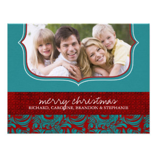 Classy Christmas Photo Card Personalized Invite