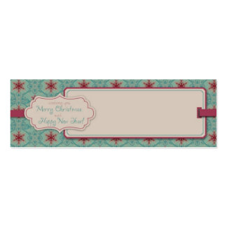 Classy Christmas Skinny Gift Tag Double-Sided Mini Business Cards (Pack Of 20)
