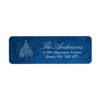 Classy Christmas Tree Address Labels