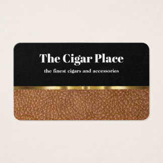 Classy Cigar Theme Design Business Card