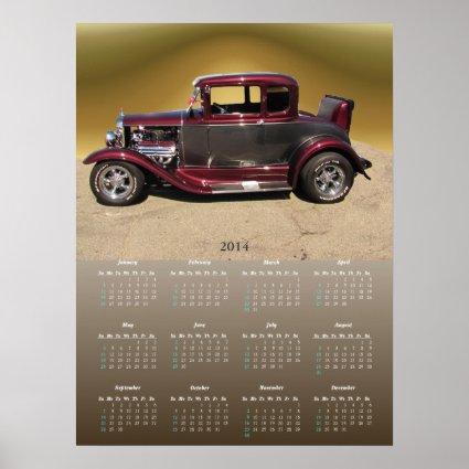 Classy Classic calendar ~ print