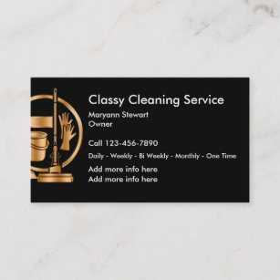 Cleaning services business cards zazzle classy cleaning service business cards colourmoves
