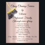 """Classy Cleaning Services House Keeping Residencial Flyer<br><div class=""""desc"""">florenceK dedicated for Tiffany collection</div>"""