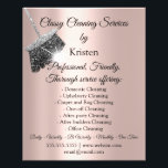 "Classy Cleaning Services House Keeping Rose Silver Flyer<br><div class=""desc"">florenceK dedicated for Tiffany colletion</div>"