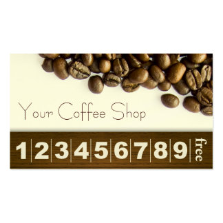 Classy Coffee Beans Coffee Business Loyalty Card