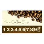 Classy Coffee Beans Coffee Business Loyalty Card Business Card Template