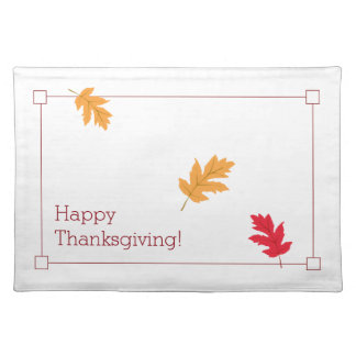 Classy, Colorful, and Festive Thanksgiving Placemat