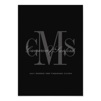 Classy + Contemporary Monogram Wedding Invitations