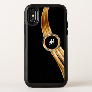 Classy Cool Monogram OtterBox Symmetry iPhone X Case