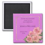 Classy Corner Floral & Glitter Confetti Birthday  Magnet
