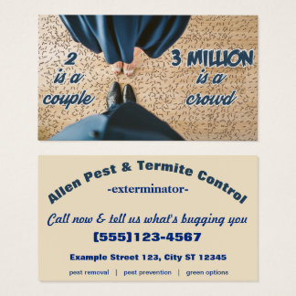 Classy Couple attacked by Millions of Ants Business Card