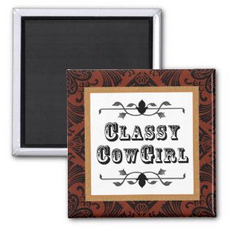 Classy Cowgirl  Western Vintage style magnet