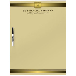 Classy Cream and Gold Plate Dry-Erase Board 22x16 Dry Erase Boards