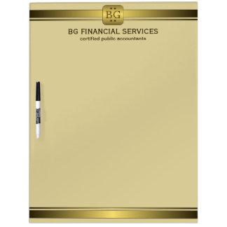 Classy Cream and Gold Plate Dry-Erase Board 22x16
