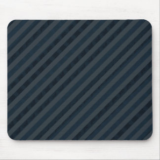 Classy Custom Dark Aqua & Navy Blue - Stripes Mouse Pad