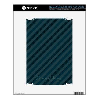 Classy Custom Dark Aqua & Navy Blue - Stripes NOOK Skins