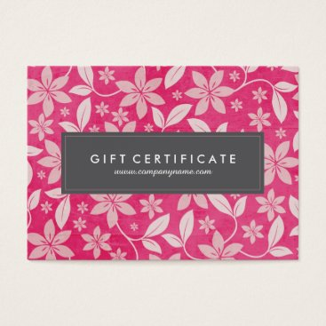 Professional Business Classy Customizable Floral Gift Certificate