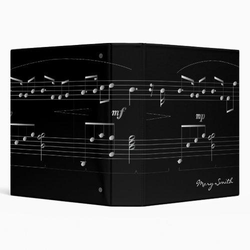 Classy Customizable Music Binder 15