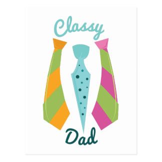 Classy Dad Postcard