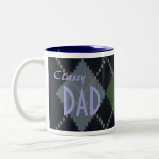 Classy Dad Two-Tone Coffee Mug