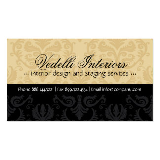 Classy Damask Designer Business Card