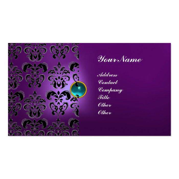 CLASSY DAMASK GEM  MONOGRAM BUSINESS CARD