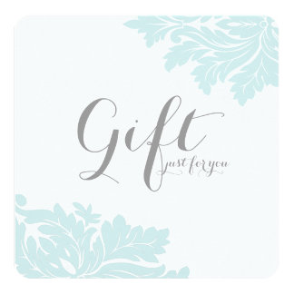 Classy Damask Gift Certificates Invitation
