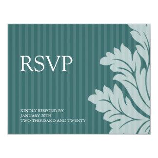 Classy Damask RSVP Cards