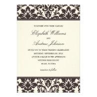 CLASSY DAMASK | WEDDING INVITATION