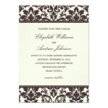 "CLASSY DAMASK | WEDDING INVITATION 5"" X 7"" INVITATION CARD"