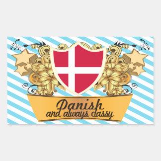 Classy Danish Rectangular Stickers