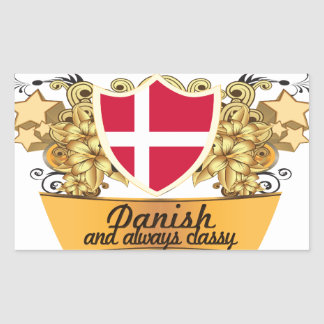 Classy Danish Rectangle Sticker