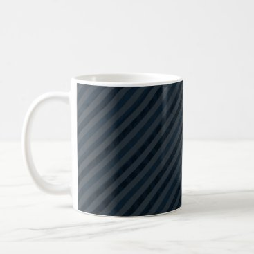 Coffee Themed Classy Dark Aqua & Navy Blue - CUSTOM COFFEE MUG