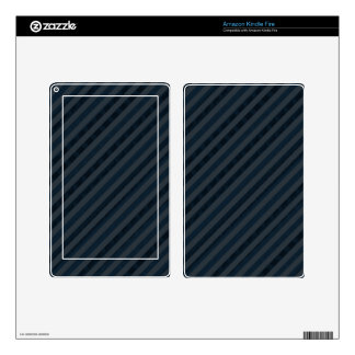 Classy Dark Aqua & Navy Blue - Custom Tablet Skin Kindle Fire Decals