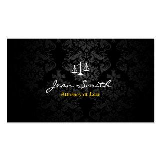 Classy Dark Damask Attorney/Lawyer Business Card