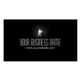 Classy Dark Golf Pro Business Card
