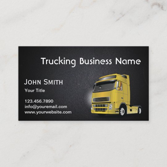 Classy Dark Leather Texture Trucking Business Card