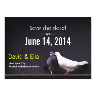 Classy Dark Love Birds Save the Date Invitation