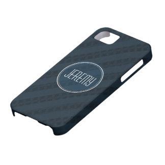 Classy Dark Navy Custom Monogram Version 2.0 iPhone SE/5/5s Case