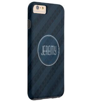 Classy Dark Navy Custom Monogram Version 2.0 Tough iPhone 6 Plus Case