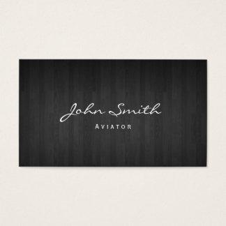 Classy Dark Wood Aviator Business Card