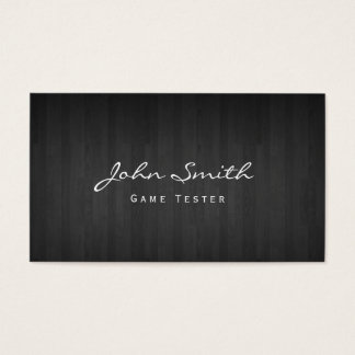 Classy Dark Wood Game Testing Business Card