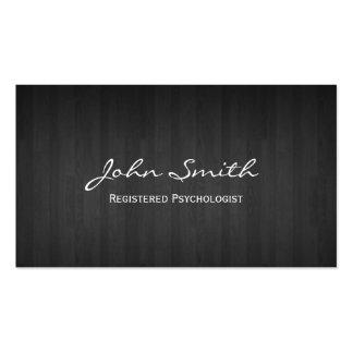 Classy Dark Wood Psychologist Business Card
