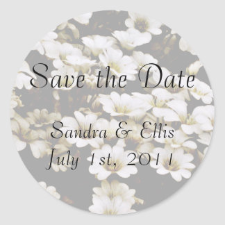 Classy Dasies Wedding Label