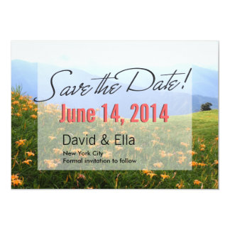 Classy Daylily flowers Save the Date Announcement