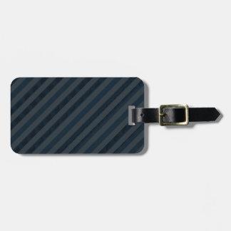 Classy Deep Navy Blue & Gray - Custom Luggage Tag