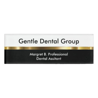 Classy Dentist Office Staff Name Tag