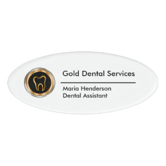 Classy Dentist Staff Name Tag