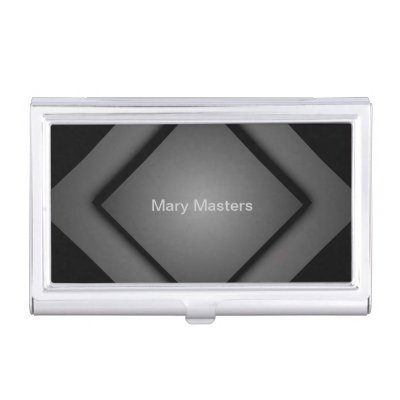 Classy Diamond Case Personalized Business Cards